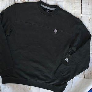 Quiksilver originals crew neck sweater in black